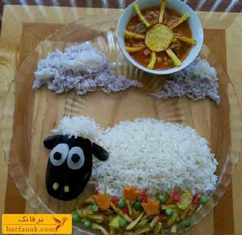 مدل تزیین برنج