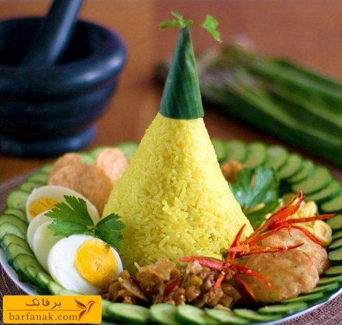 عکس تزیین برنج