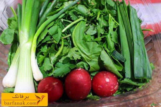 خواص سبزیجات مختلف