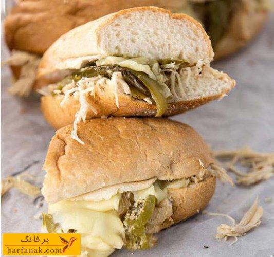 طرز تهیه ساندویچ مرغ و قارچ