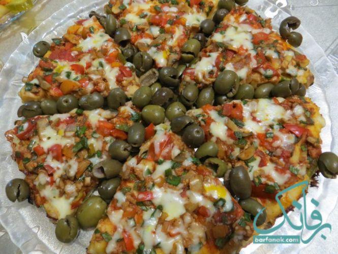طرز تهیه پیتزا بدون فر