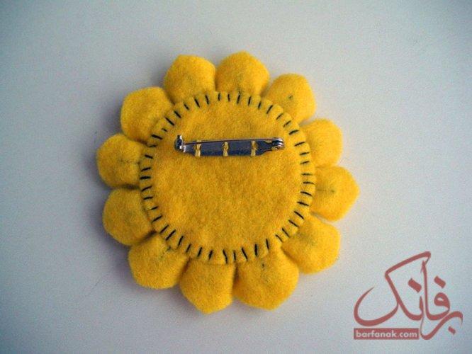 آموزش گل آفتابگردان نمدی