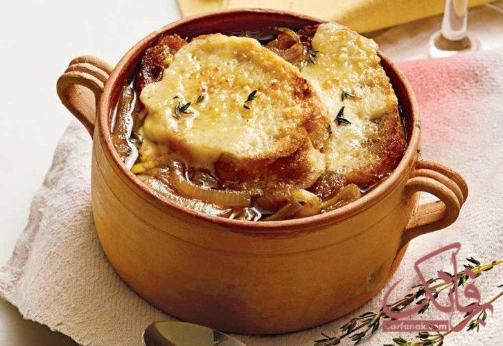 طرز تهیه سوپ پیاز فرانسوی