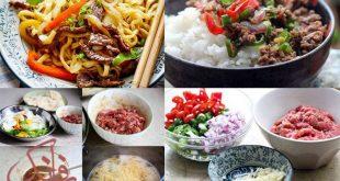 طرز تهیه غذای چینی با گوشت چرخ کرده