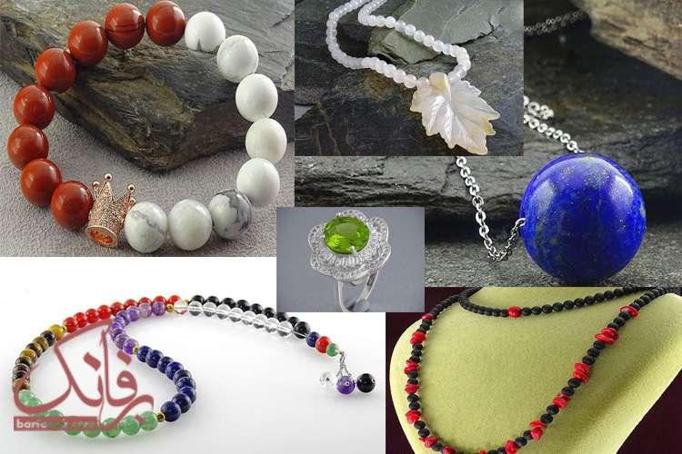 اموزش ساخت گردنبند دستبند خاتم 30 مدل زیورآلات سنگی دست ساز زیبا و  شیک • برفانک
